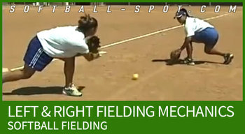 LEFT AND RIGHT SOFTBALL FIELDING