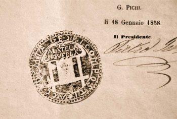 stemma-Accademia-dei-Ricomposti-teatro-Anghiari-1852