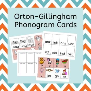 orton gillingham phonogram cards