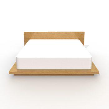 wilbur davis studios platform bed no. 3 - modern rectangular wood platform bed with wide headboard and platform