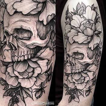 tatuajes-de-calaveras-con-rosas