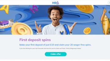 MrQ Free Spins on First deposit