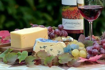vins rouges et fromage