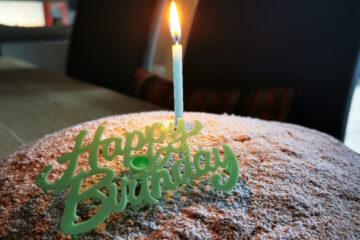 Geburtstagstorte, 1 Jahr Selbstständigkeit