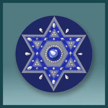 Magen David Royal Blue
