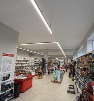 Освещение для магазина стройматериалов