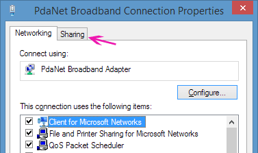 Connection properties