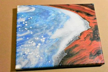 Day 10 Acrylic Pouring Color Theory Series, Kiss pour