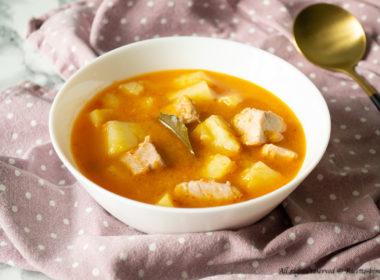 Zuppa di patate e tonno Bimby