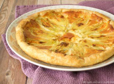 Torta salata con fiori di zucca Bimby