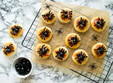 Pizzette ragno di Halloween Bimby