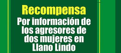 Photo of Millonaria recompensa por agresores de mujeres de Llano lindo