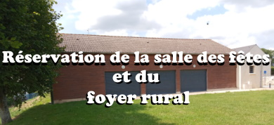 reservation salles des fêtes et du foyer rural