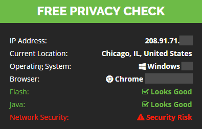 IP and location check (with VPN)