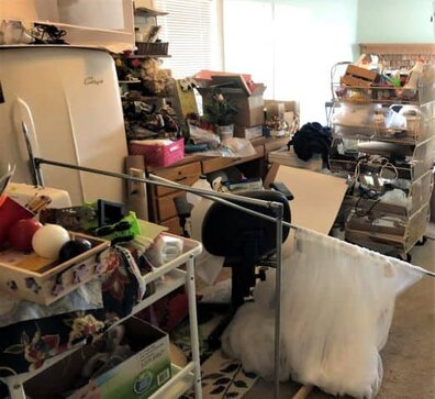 My craft room mess before