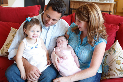newborn family portrait