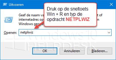 zonder wachtwoord inloggen