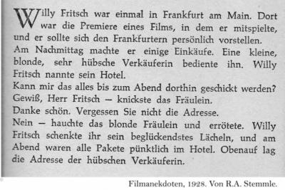 Anekdote: Die Frankfurter Verkäuferin