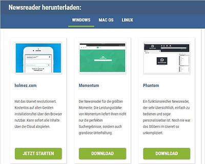 Usenext Newsreader Auswahl