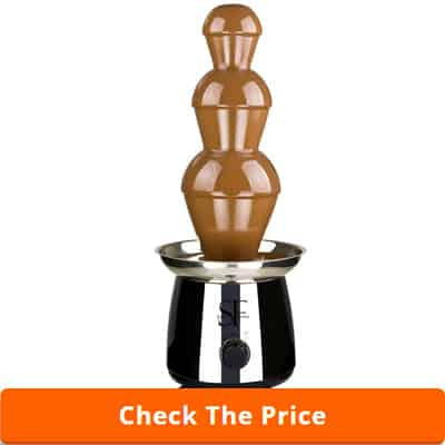 """Sweet Fountains 22"""" Entertainer Home Stainless Steel Chocolate Fountain"""