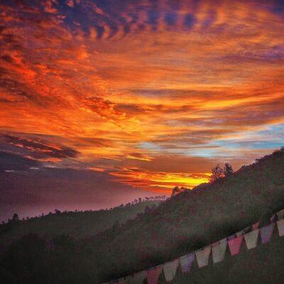 Sunrise in Nagarkot, Nepal