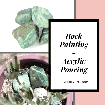Rock Painting Acrylic Pouring