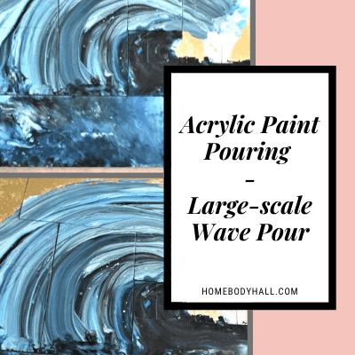 Acrylic Paint Pouring Large-Scale Wave Pour