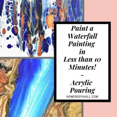 Paint a waterfall painting in Less than 10 minutes!