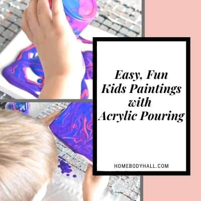 Easy Fun Kids Paintings with Acrylic Pouring