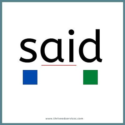 heart word method step 3 with word said
