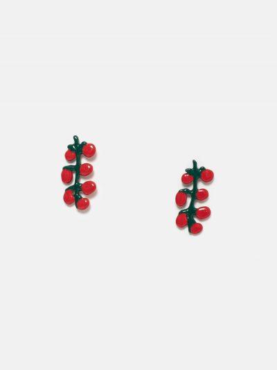 pendientes ramita de tomates
