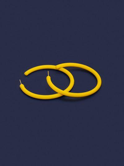 Pendientes Hula Hoop amarillo