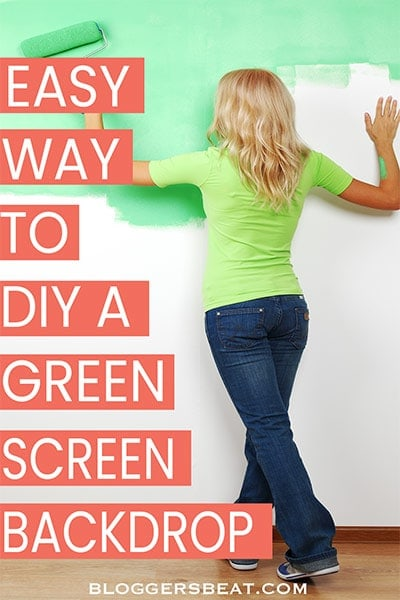 How to make a green screen backdrop - pin