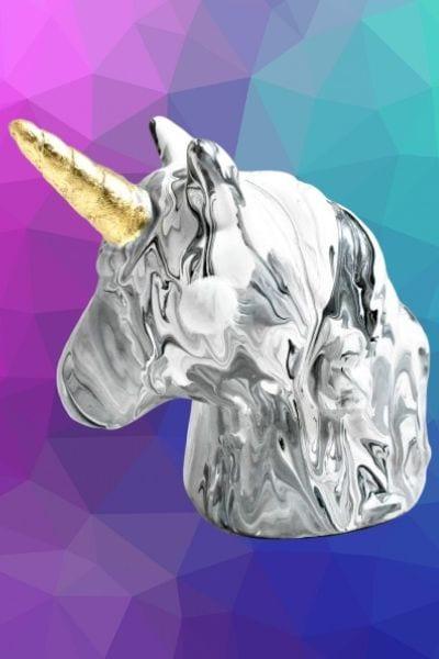3-D Unicorn Acrylic Pour Art