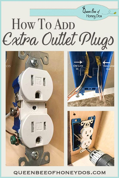 How To Add Additional Outlet Plugs - sometimes you just need an extra outlet where there isn't one. This DIY will guide you, step-by-step through the renovation process of adding outlets.