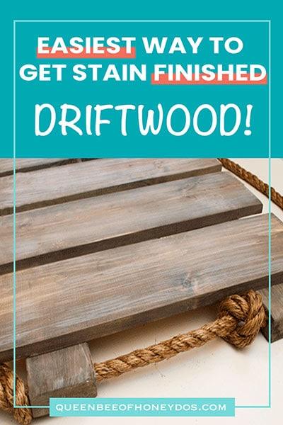weathered gray driftwood finish