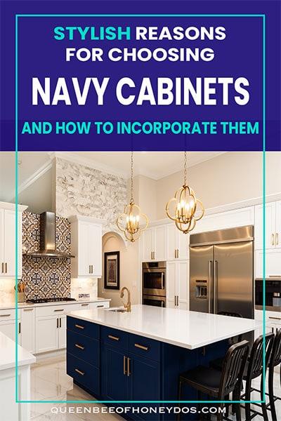 navy cabinets pin image