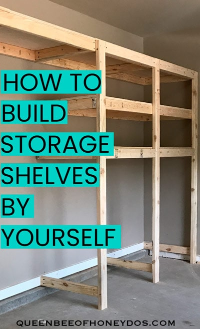 How To Build Garage Storage Shelves Pinnable