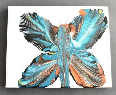 completed chain pull butterfly painting