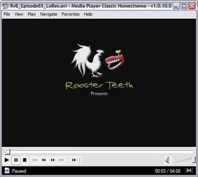 Het uiterlijk van de Media Player Classic software komt je misschien bekend voor.