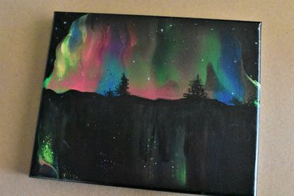 Completed Northern Lights Painting