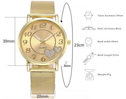 Zegarek damski złoty LOVE