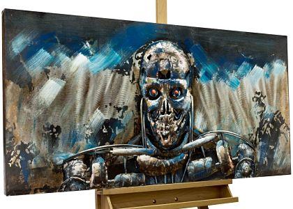 Kunstloft-Extraordinario-Terminator-120x60x8cm-Decoración-calavera-terminator