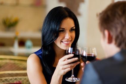 Traumfrau erobern bei romantischen Date