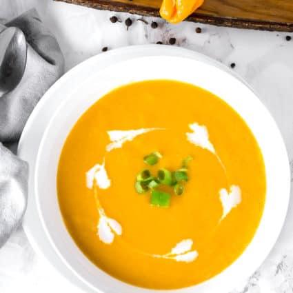 Jamaican Pumpkin Soup (Pureed)