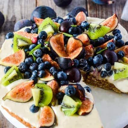 Almond Cake With Fresh Fruit