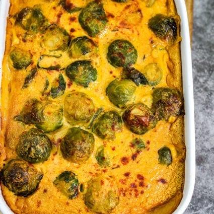 Vegan Brussels Sprouts Casserole