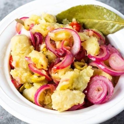 Guineos En Escabeche (Pickled Green Banana Salad)