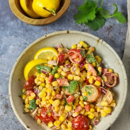 Vegan Mexican Street Corn Salad