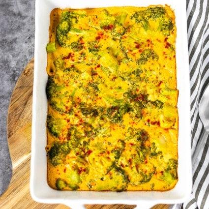 Gluten-Free Vegan Broccoli Cheese Casserole